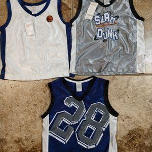 Gymboree Youth Basketball Shirts Jerseys Lot of 3